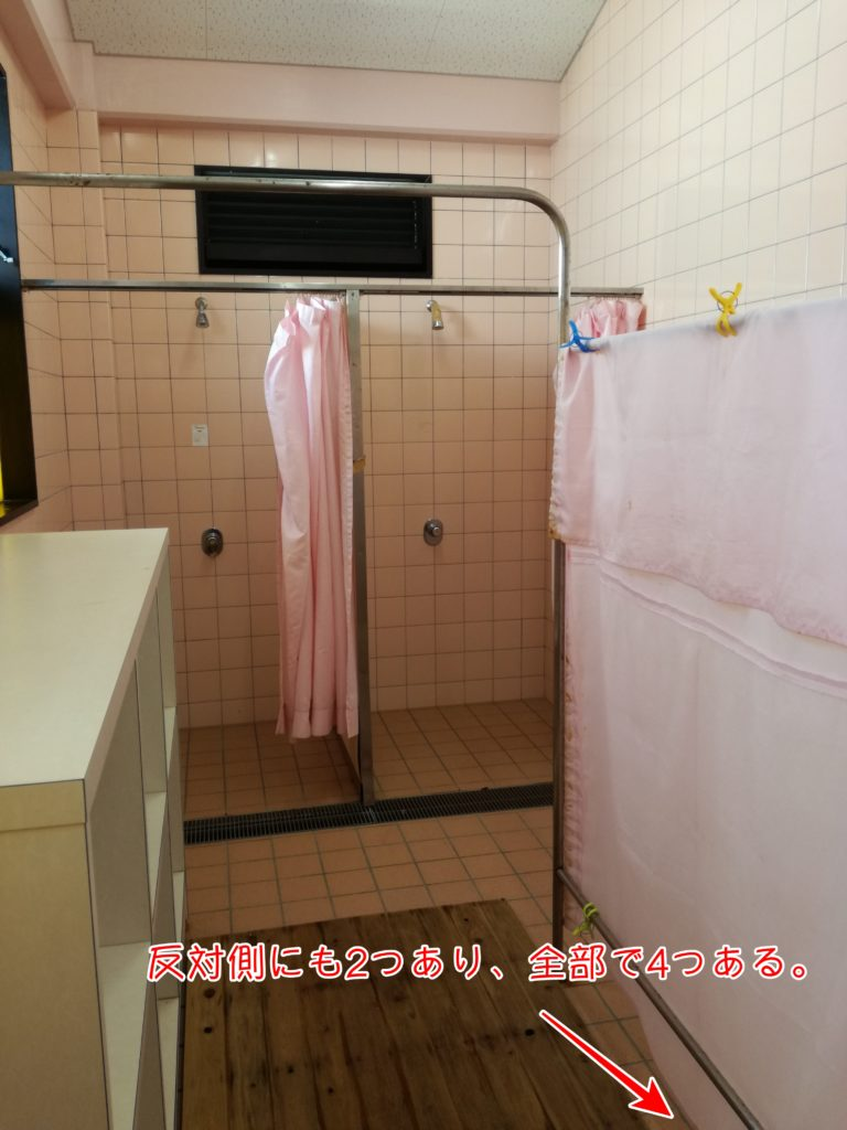 水シャワールームの様子