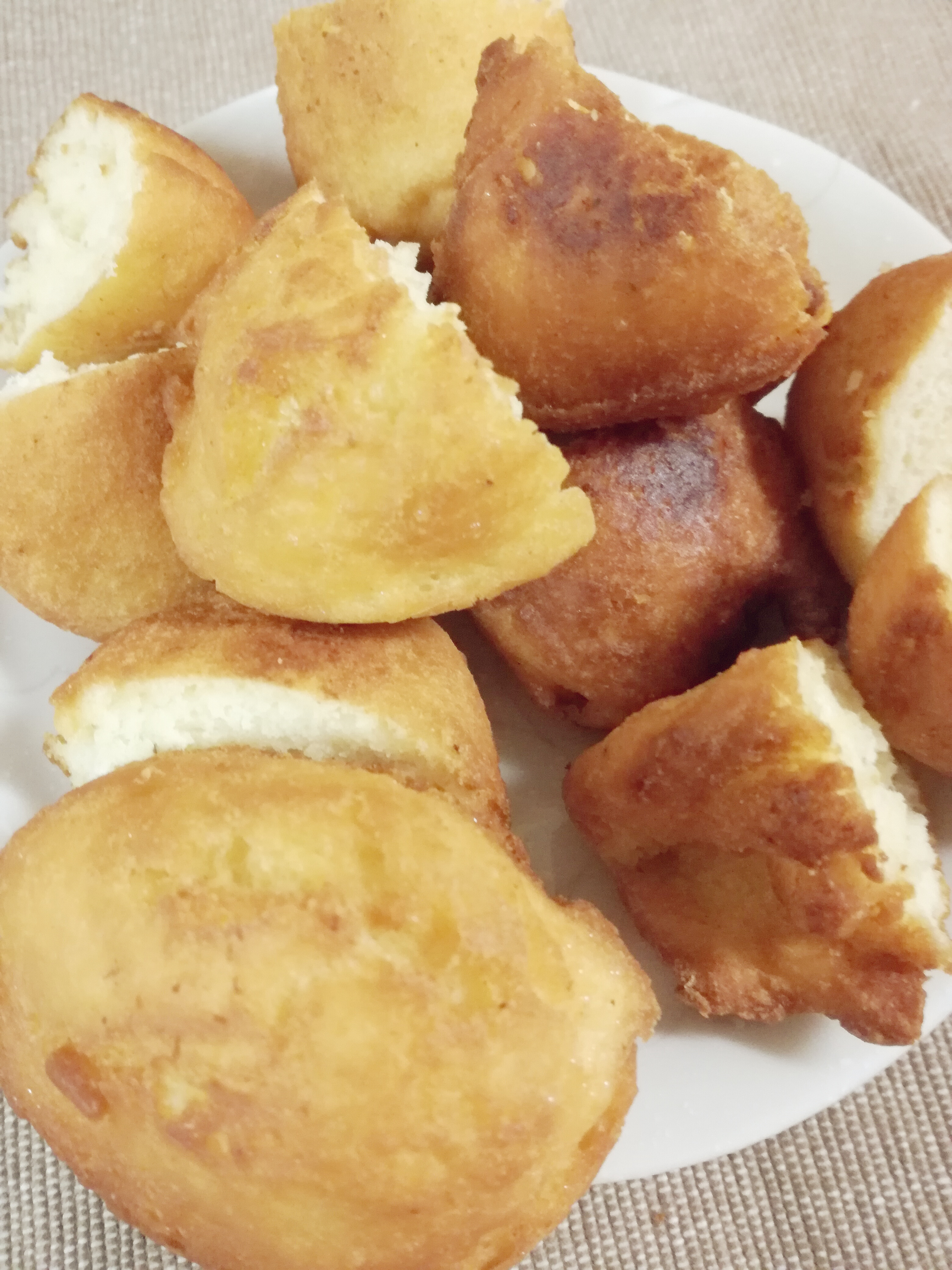 揚げ物パン粉の残りドーナツ