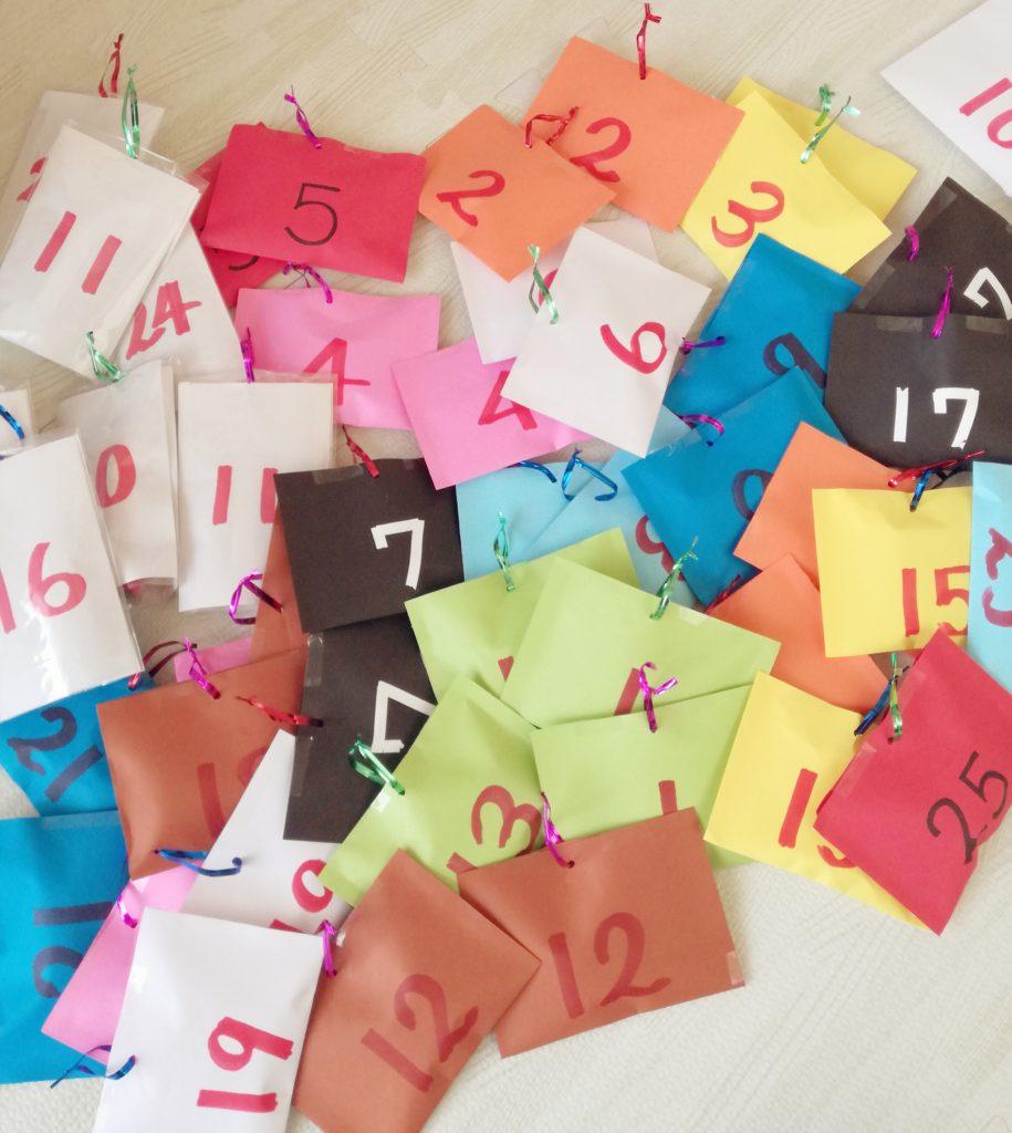 アドベントカレンダー袋、完成